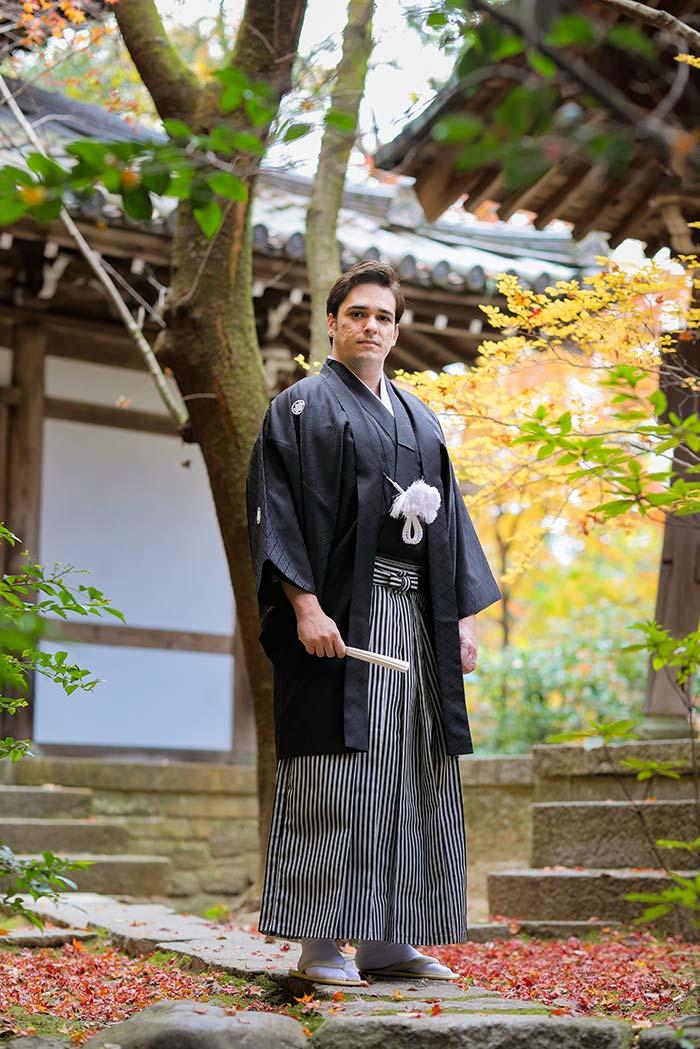 国際結婚の新郎様の京都前撮り