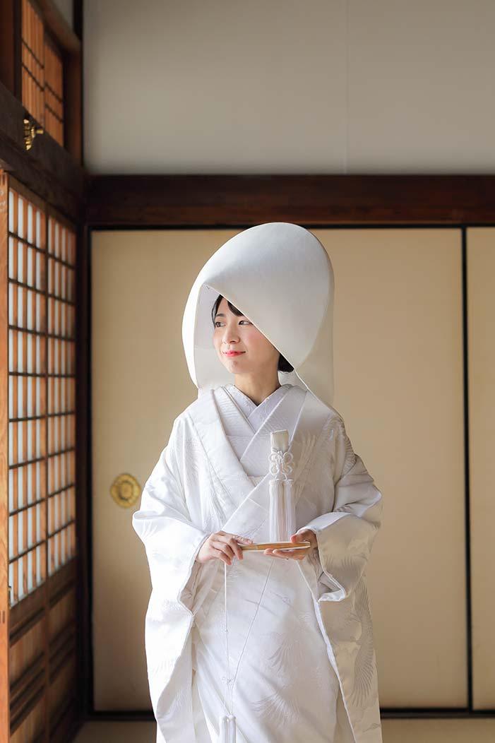 綿帽子がお似合いの新婦様