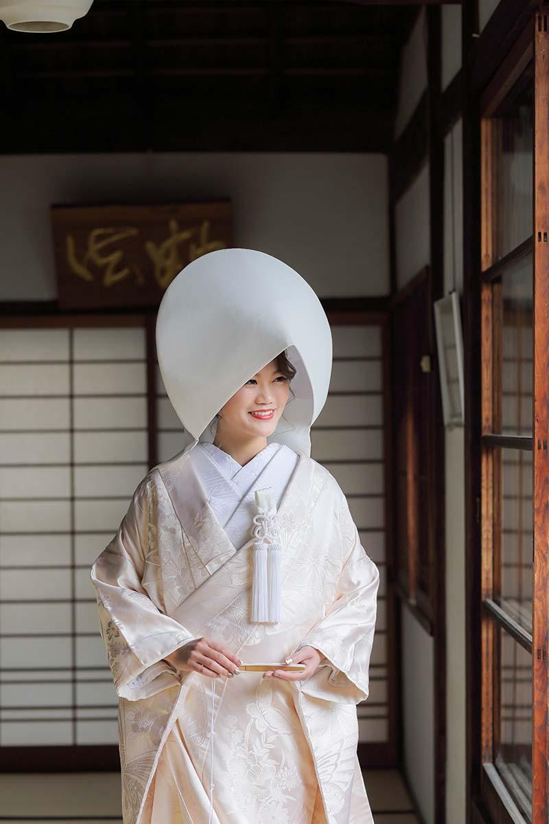 綿帽子姿の花嫁様
