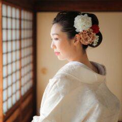 美しい花嫁様のヘアセット画像