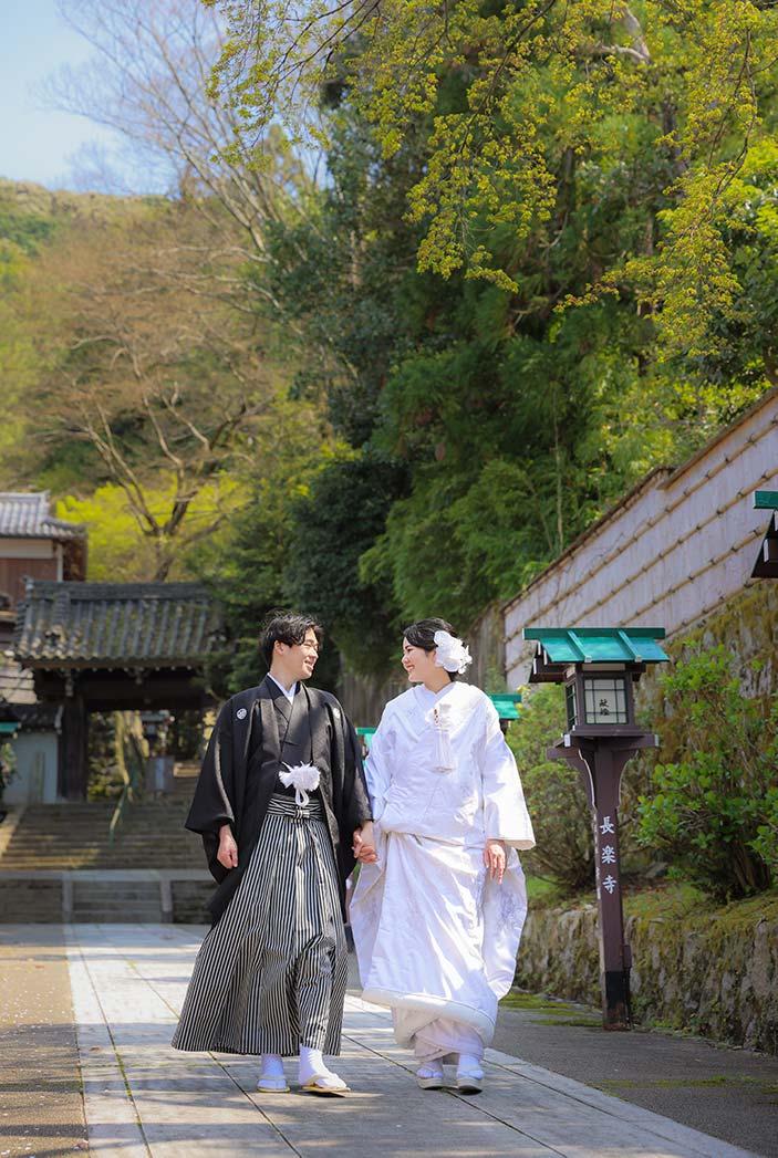 京都長楽寺での和装ロケーション撮影