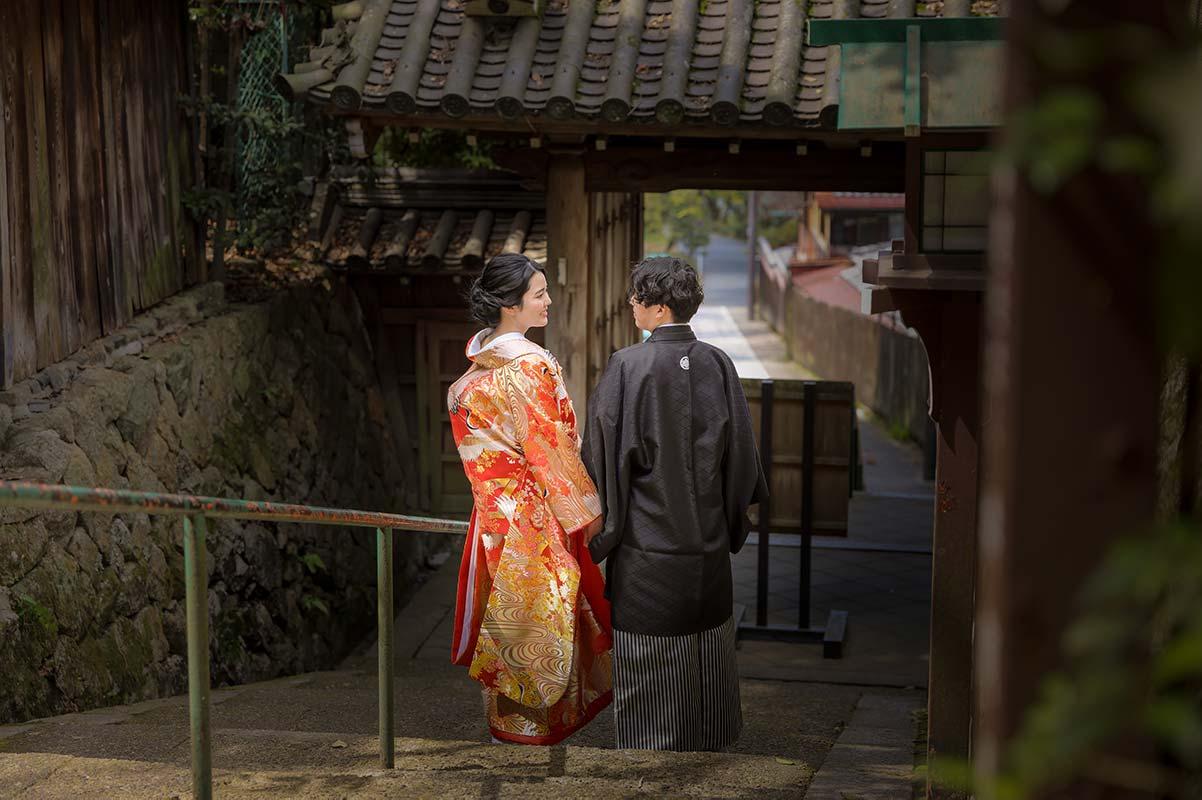 京都長楽寺で和装前撮り