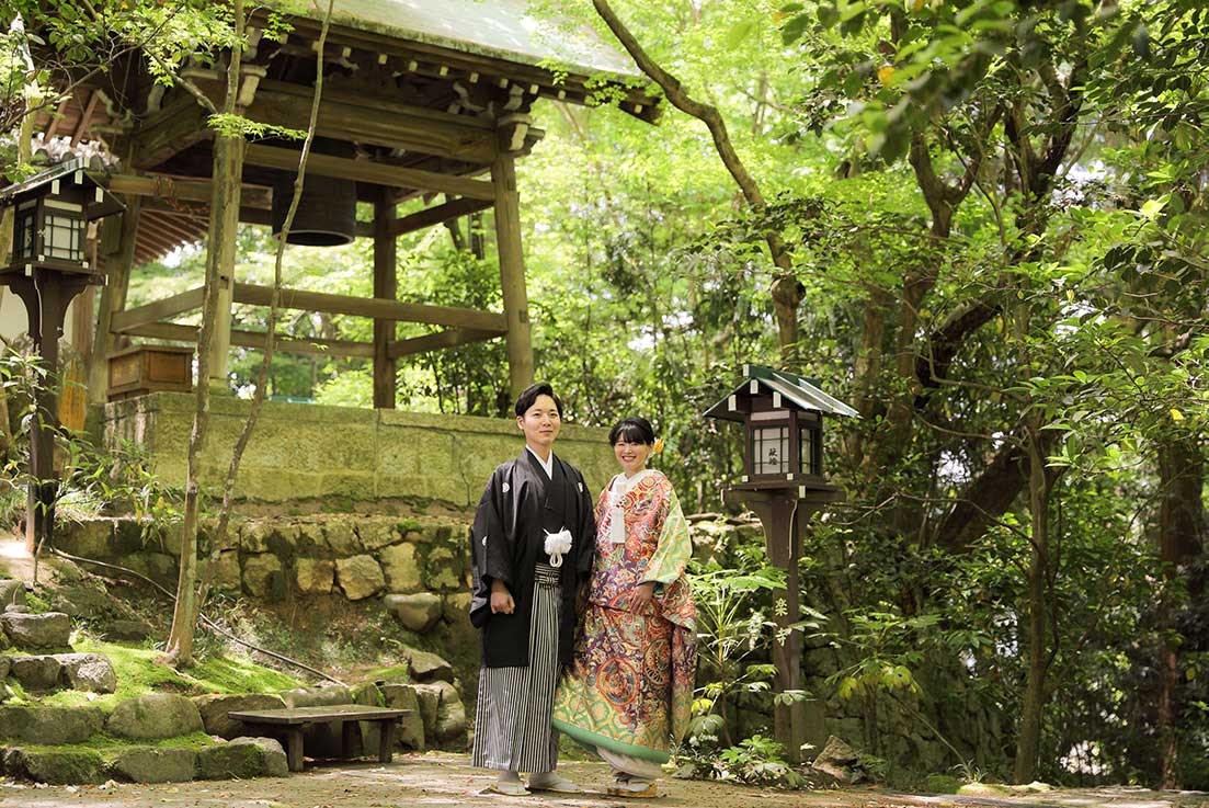 京都長楽寺での屋外ロケーションフォト