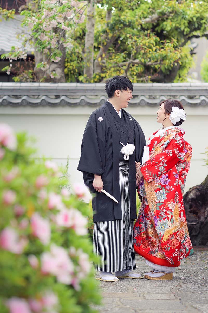 京都妙蓮寺様のつつじと和装前撮り