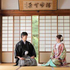 京都戒光寺での正座の前撮り写真