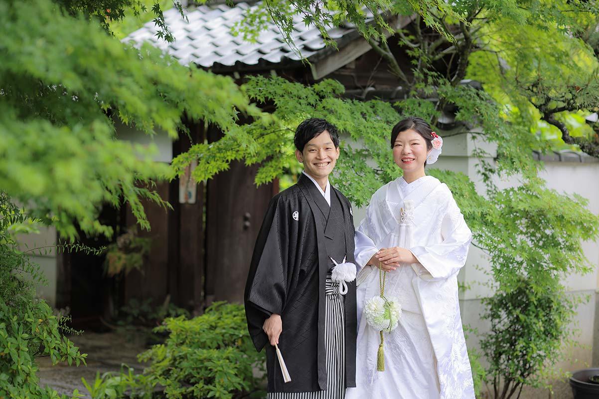 京都で前撮り新緑のお写真