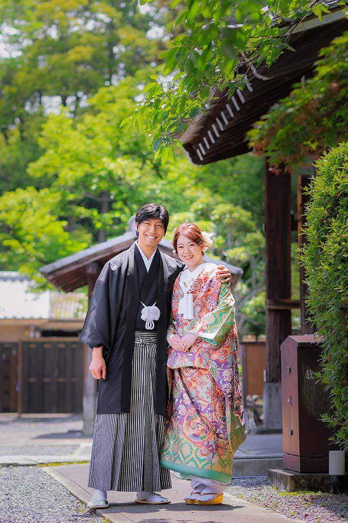 京都の初夏の爽やかな前撮り