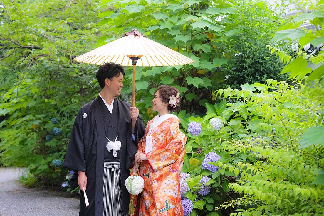 京都の紫陽花と前撮り写真