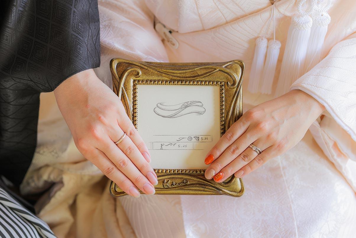 デザイン結婚写真の下絵