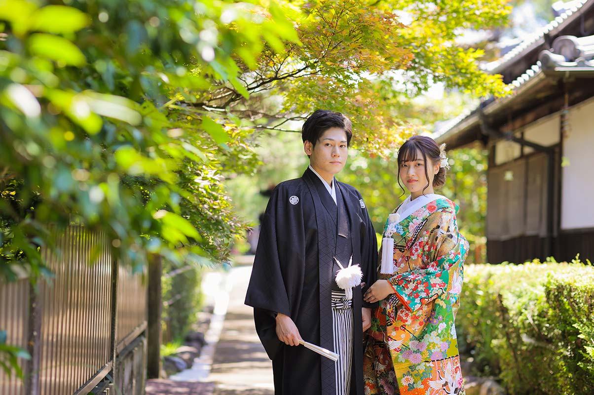 京都の夏の日差しと和装前撮り